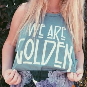 Tops - MATE the Label We Are Golden Tank